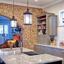 exposed brick kitchen design u2014 toulmin cabinetry u0026 design