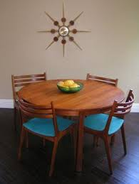 Reserved For Louise Black Vinyl Dining Chairs Retro Kitchen Chairs - Danish teak dining room table and chairs