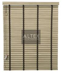 Venetian Home Decor by Altex 50mm Pvc Venetian Blinds Light Brown Slats With Brown