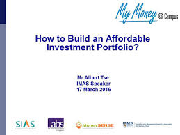 how to build an affordable investment portfolio