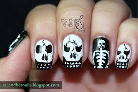 robin moses nail art cute halloween skeleton nails skeleton best