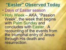 why we do not observe the easter celebration why this lesson to