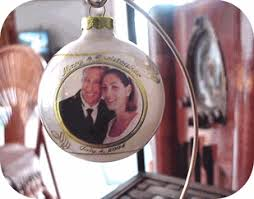 personalized wedding christmas ornament christmas wedding favors idea and planning