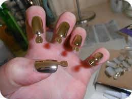 metallic false nails images