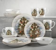 nostalgic tree dinner plate set of 4 pottery barn
