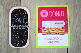 gift cards for less free printable donut cut out gift card holder gcg