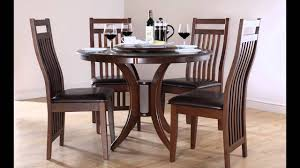 modern wood round dining table chair round black glass dining table and 4 chairs starrkingschool