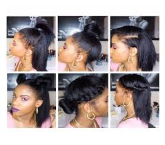 hairstlye of straight back 10 easy back to school hairstyles for straight natural hair youtube
