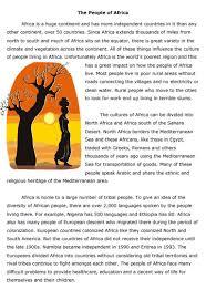 africa reading comprehension worksheet sample