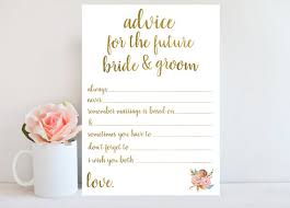 Advice To Bride And Groom Cards Wedding Advice Cards Good For Reception Entertainment Wedding