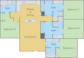4 bedroom apartment floor plans suites at adobe floor plan 4 bedroom 4 bathroom flat