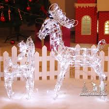 Christmas Decorations Reindeer by Animated Lighted Reindeer Deer Family Christmas Yard Decoration
