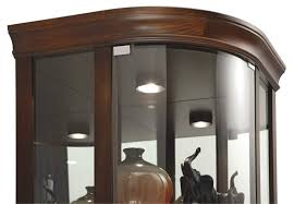 Glass Curio Cabinet With Lights Cabinet Lighting Great Curio Cabinets With Lights Design Corner