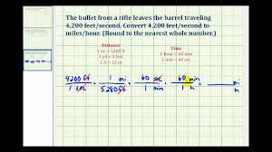 ex convert feet per second to miles per hour youtube