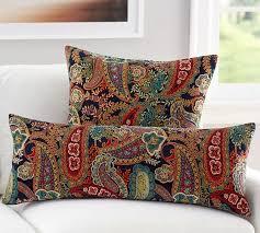 gwenn printed velvet pillow cover pottery barn