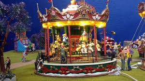 lemax santa s carousel with christmas dreams lemax villages