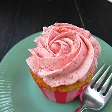 strawberry cupcakes with strawberry swiss meringue buttercream