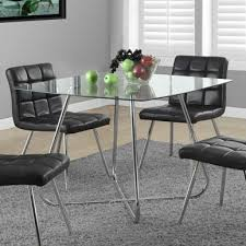 Glass Top Square Dining Table Modern Square Dining Table 40 X 40 Inch With Tempered Glass Top