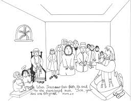 jesus heals paralyzed man coloring page pictures to pin on at a
