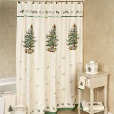 spode tree shower curtain