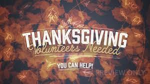 thanksgiving volunteers needed graceway media