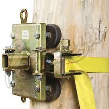 capstan portable winch tree pole mount w rubbers pads mounts