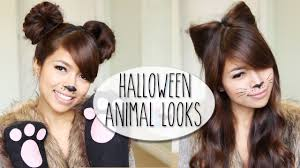 Simple Cat Makeup For Halloween by Diy Halloween Costume Ideas Bear U0026 Cat Ears Hairstyle U0026 Makeup