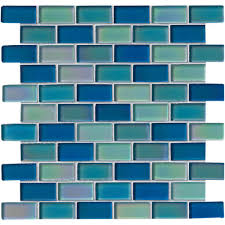 Tile X Glass Tile Backsplash Iridescent Tile Glass Tile - Teal glass tile backsplash