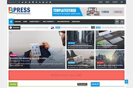 bpress news magazine blogger template templatesyard free