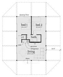 cottage style house plan 2 beds 1 00 baths 688 sq ft plan 64 193