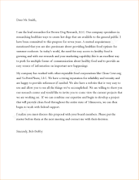 cover letter business proposal