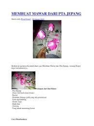 cara membuat bunga dari kertas pita jepang bunga mawar dari pita jepang