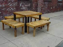 outdoor wooden table and benches 116 modern design with outdoor