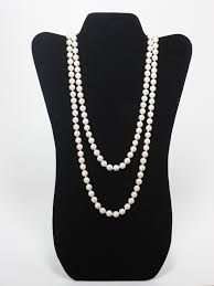 white pearl necklace designs images Long white pearl necklace donated from the designer the jpg
