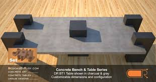 Concrete Patio Tables And Benches Outdoor Concrete Benches Concrete Patio Tables Designs By Rudy