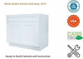 kitchen sink base cabinets sale white shaker kitchen sink base cabinet