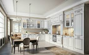 white solid wood kitchen cabinets with nice crown molding u0026 roman