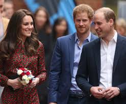 prince harry with prince william and kate middleton pictures