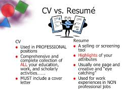 Cv Vs Resume Example by Dazzling Ideas Cover Letter Vs Resume 13 Difference Between Cv And