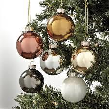 Glass Christmas Ornament Sets - ballard designs mixed metals glass ornaments set of 12 100mm