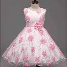 childrens wedding dresses childrens pink and white princess gown flower wedding dress