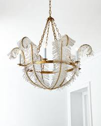 feather chandelier visual comfort feather 6 light chandelier