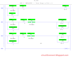 direction control of dc motor using plc circuit 2 connect