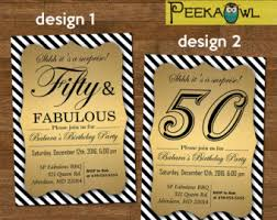 50th birthday invitation etsy