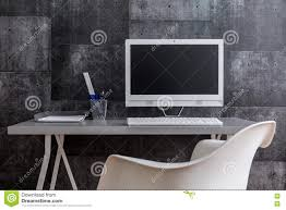 Industrial Desk Accessories by Post Industrial Style Of Modern Workspace Stock Photo Image