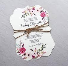 Shabby Chic Wedding Invitations by Boho Wedding Invitation Floral Wedding Invitation Modern Wedding