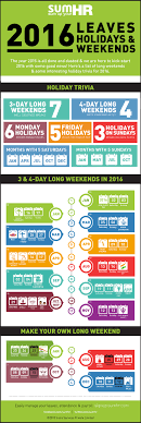 2016 india holidays calendar hr infographic best weekend
