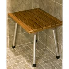bathroom impressive brilliant shapes teak corner shower bench