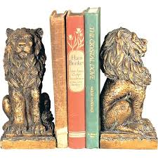 bookends lion lion bookends home bedrooms
