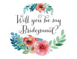 will you be my bridesmaid will you be my bridesmaid card floral watercolor instant